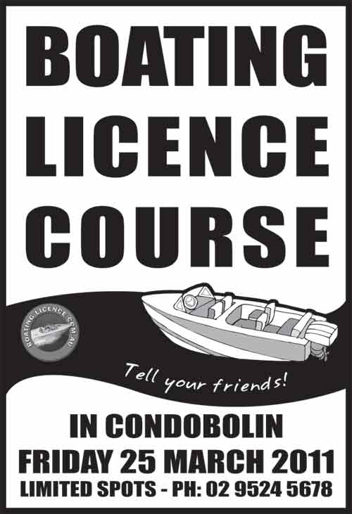 Boating Licence Course in Condobolin