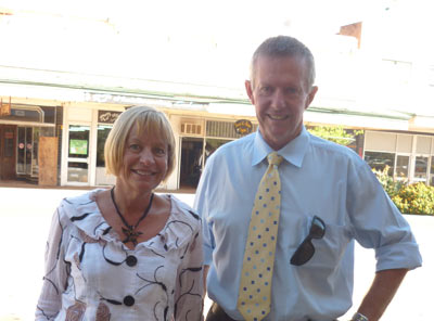 Federal Member for Parkes Mark Coulton and his wife Robyn. D.G.
