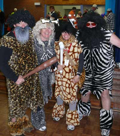 Cavemen: Greg Paff, Tracey Stephens, Terry Patterson and Jamie Price.