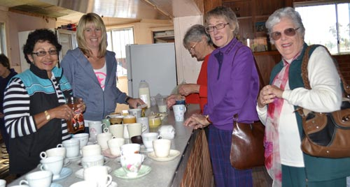 Condobolin Tennis Club gathered at their clubhouse to raise funds for Australia's Biggest Morning Tea.  L-R: Lil Lukins, Karyn White, Lois Black and Marie O'Neill. KT
