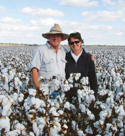 Pat and Sue Kennedy of 'White Gates' Condobolin. Photo: OM