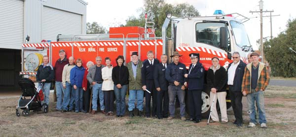 The Ootha Rural Fire Brigade celebrate the opening of their new Rural Fire Station.