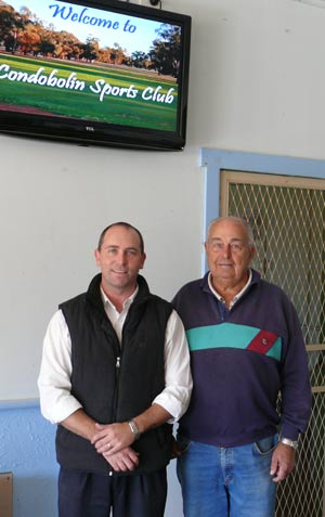 Manager of the Sports Club Michael Waller and Chairperson Doug Parnaby