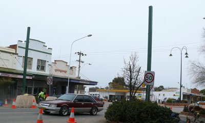 The Lachlan Shire has recently installed two new  event banner poles in Bathurst Street Condobolin.