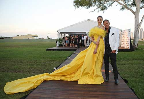 Dress by Jonathan Ward for Magic Millions. Photo supplied by RM Williams.