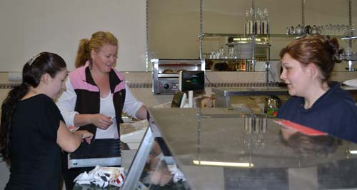 Tammy Staines and John (Buzz) Buswell have opened a new cafe for Condobolin, JanRay's on Bathurst Street.