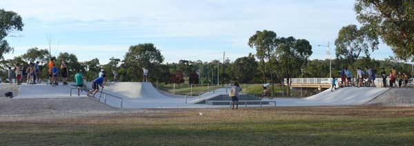 The construction materials and fencing were scarcely packed onto the building trucks before young people began scootering, cycling and rolling in to Condobolin's new skate park last week.