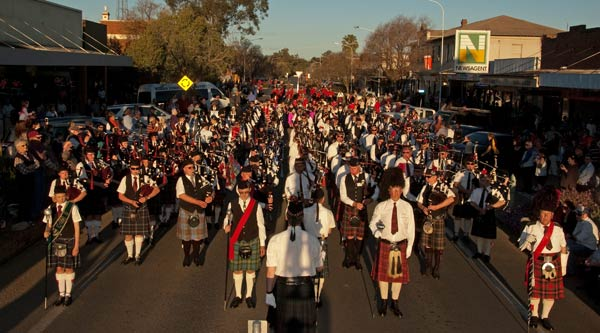 Kilts, bagpipes and drums may not be what come to mind when thinking of the Australian bush, but the 2014 Condobolin Tattoo showed that the heart of NSW can put on a Tattoo as well as any other.
