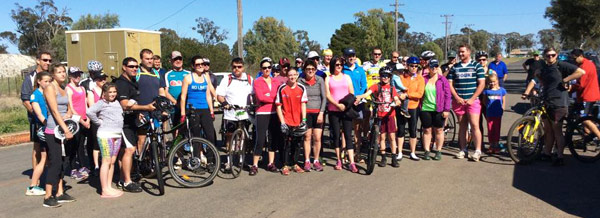 Cyclists of all ages and abilities hopped on their bikes for a good cause on the weekend.