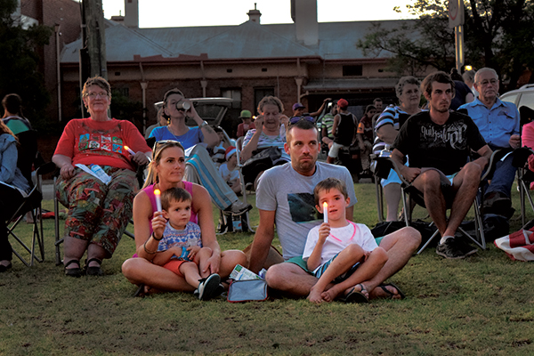 Renown Park was aglow on Sunday evening for Condobolin's own Carols by Candlelight.