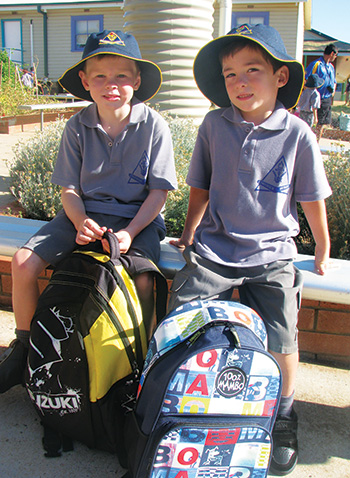 Seventy-one excited four and five-year-olds have started school for the very first time in Condobolin.