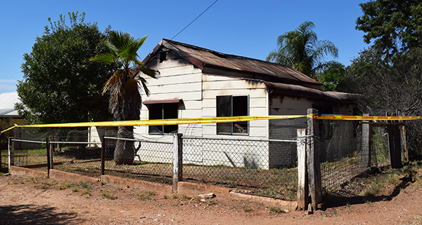 A Condobolin house was consumed by fire on the night of Tuesday 17 March.
