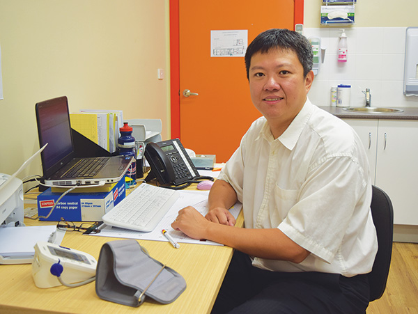 There is a new doctor in town with the arrival of GP Registrar Jim Chen at the Condobolin Aboriginal Health Service (CAHS) two weeks ago.