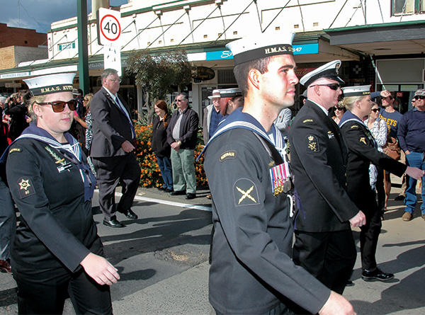 Few events in Condobolin see the influx of locals and visitors crowding the streets as turned out for the centenary ANZAC Day March on Saturday.