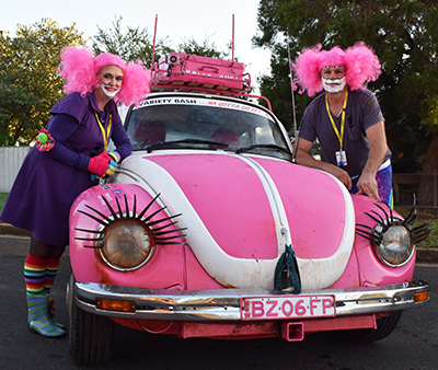 As colourful cars lined the street, horns honked, music played and Minnie and Micky Mouse handed out lollies, Condobolin Public started to look more like Disney Land than a school last Thursday morning.