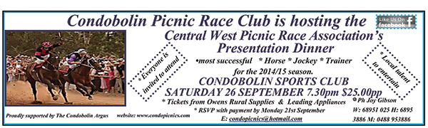 Race goers from accross the Central West will be set for  big night on 26 September.