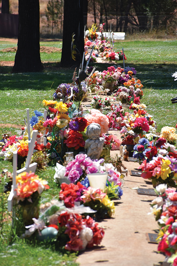 Lachlan Shire Council (LSC) will review its Cemetery Policy after a public outcry erupted over the request to remove trinkets and ornaments from graves in the Lawn section.